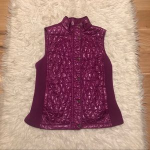 Talbots Quilted Knit Vest
